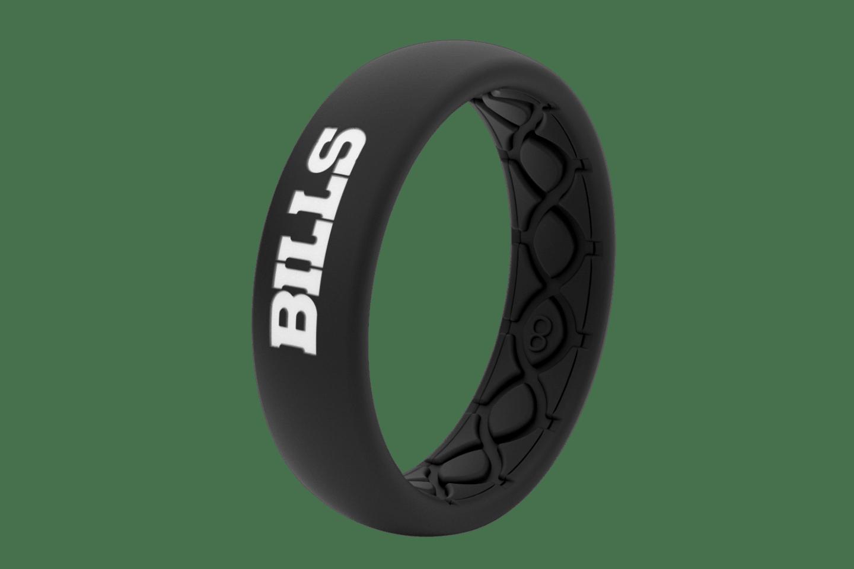 Thin NFL Buffalo Bills Black - Groove Life Silicone Wedding Rings