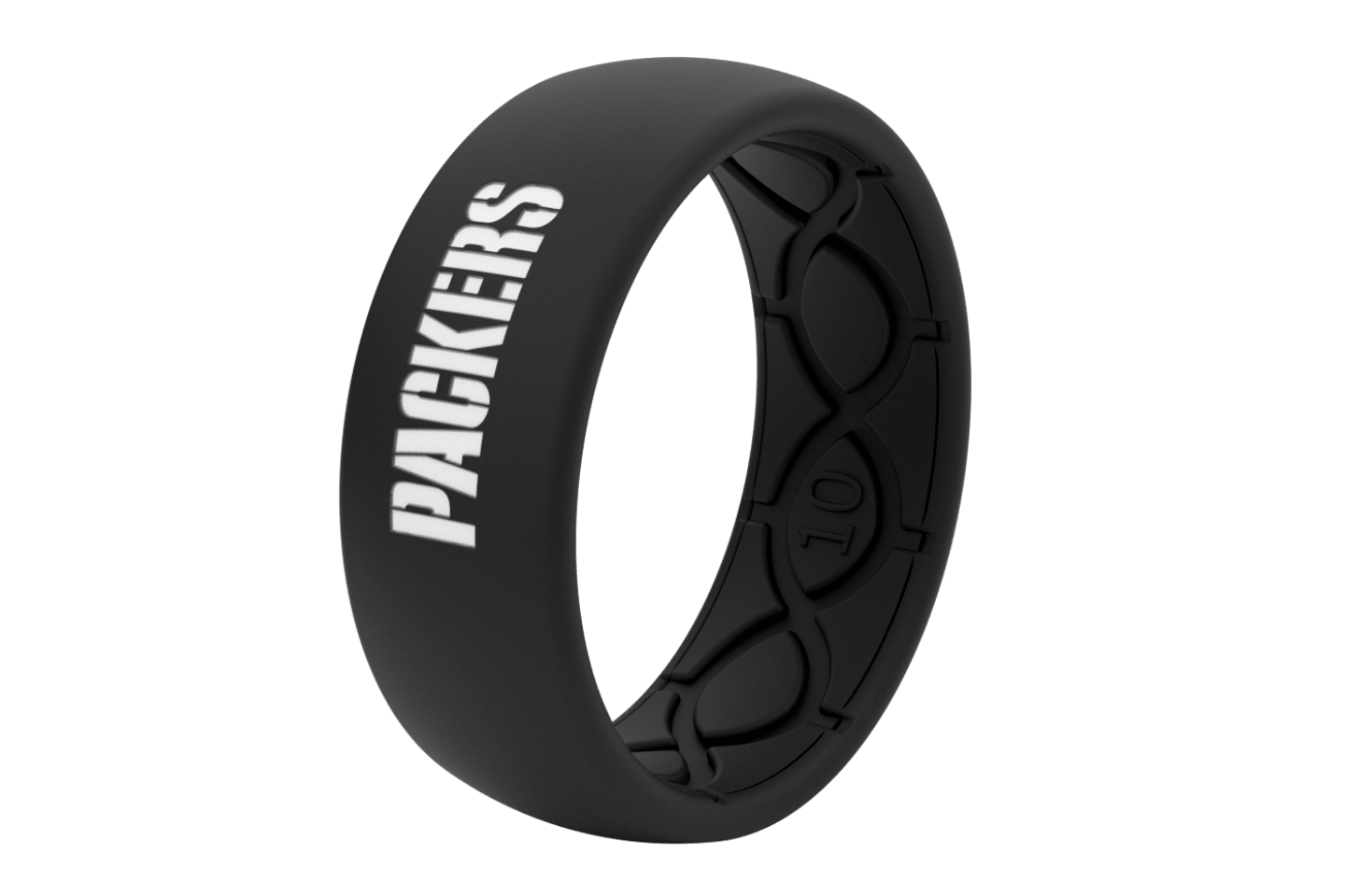 Original NFL Green Bay Packers Black - Groove Life Silicone Wedding Rings