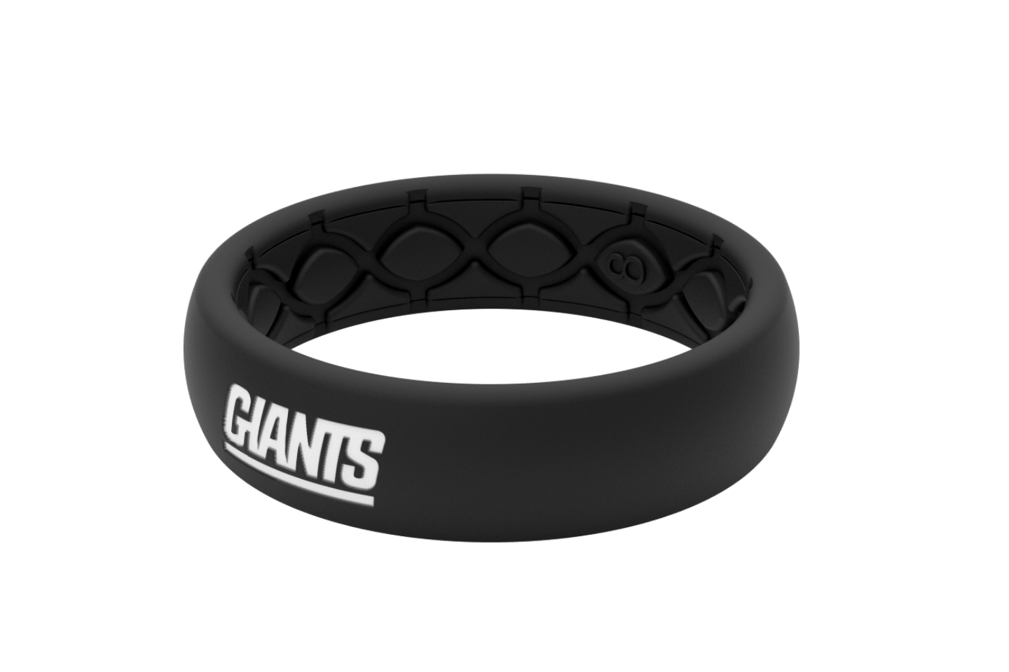 Thin NFL New York Giants Black - Groove Life Silicone Wedding Rings