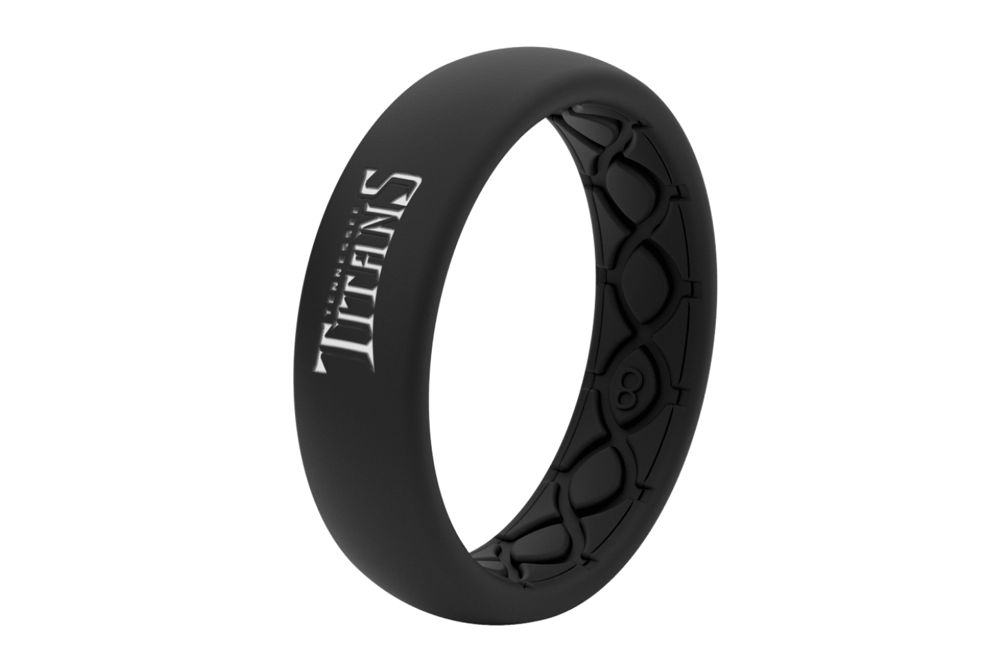 Thin NFL Tennessee Titans Black - Groove Life Silicone Wedding Rings