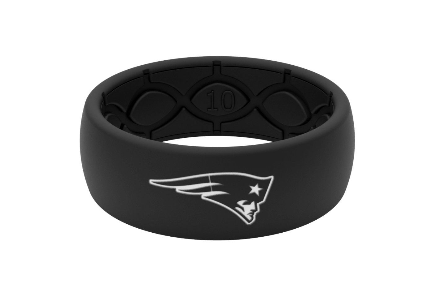 Original NFL New England Patriots Black - Groove Life Silicone Wedding Rings