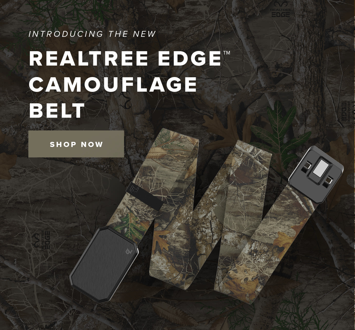 Introducing the new Realtree Edge Camouflage Belt | Shop Now