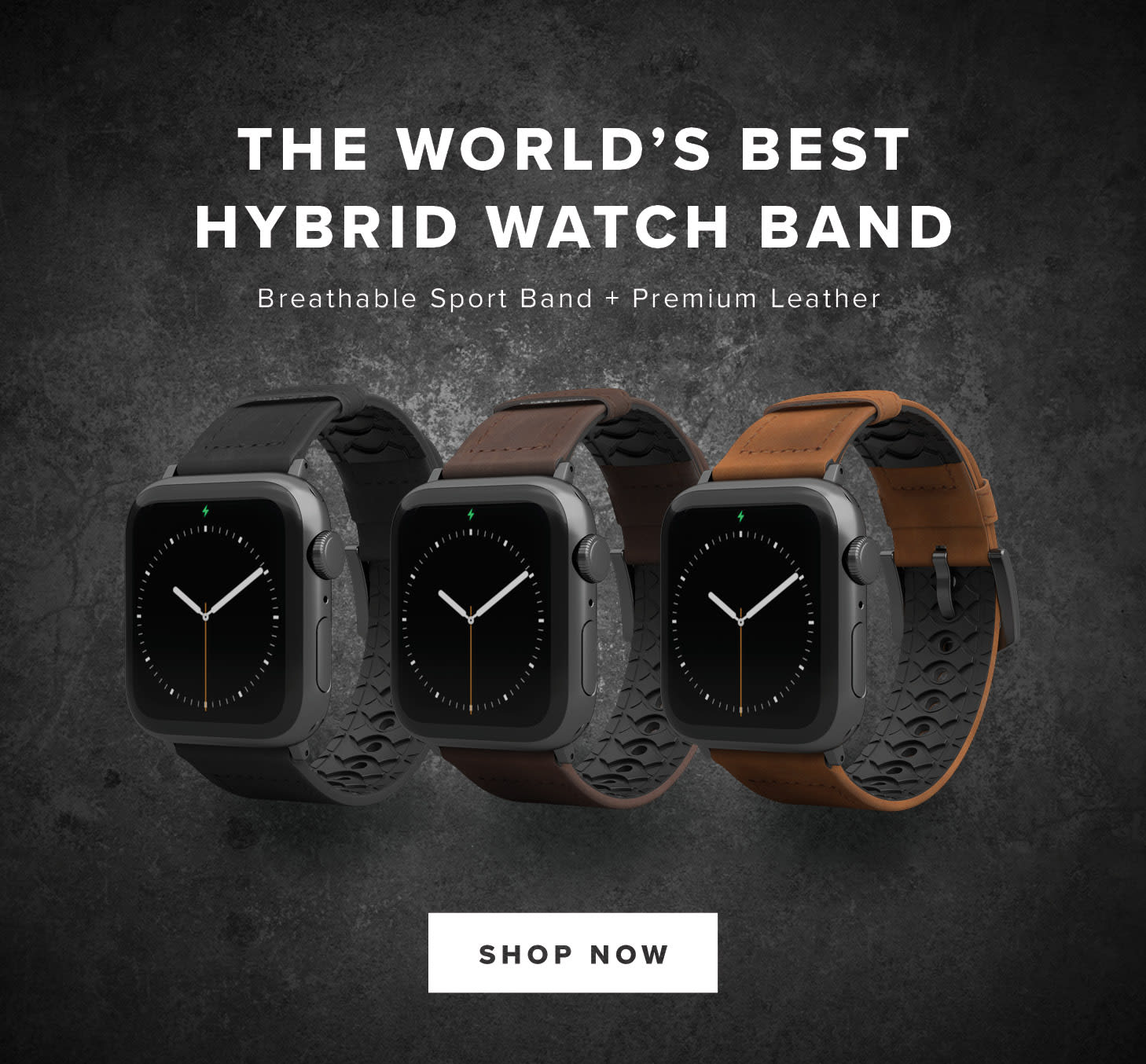 the  World's Best Hybrid Watch Band; Shop Now