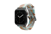Brave - Katie Van Slyke Apple Watch Band with gray hardware viewed front on