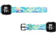 Opal - Fitbit Versa watch band viewed top down