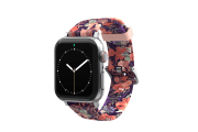 Tropics Apple Watch Band with silver hardware viewed front on