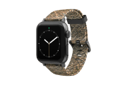 Mossy Oak Blades - Apple Watch Band with gray hardware viewed front on