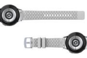 Solid White 20mm watch band with silver hardware viewed bottom up