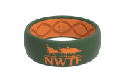 Original NWTF Moss Green Orange Logo - Groove Life Silicone Wedding Rings