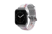 Carrera Marble - Apple Watch Band with silver hardware viewed front on