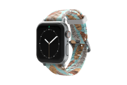 Brave - Katie Van Slyke Apple Watch Band with silver hardware viewed front on