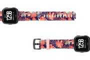 Tropics Fitbit Versa watch band viewed top down