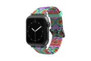 Gypsy Eyes Apple Watch Band with gray hardware viewed front on