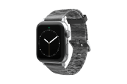 Nomad Relic - Apple Watch Band with silver hardware viewed front on