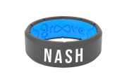 Edge Deep Stone Grey Nash - Groove Life Silicone Wedding Rings