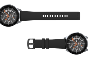 Solid Black 22mm watch band viewed top down