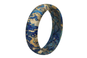 Blue Swirl - Thin -  viewed from side