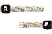 Brave - Katie Van Slyke Fitbit Versa watch band with rose gold hardware viewed top down