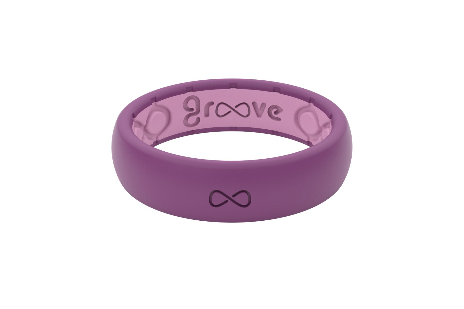 Thin Solid Lilac - Groove Life Silicone Wedding Rings