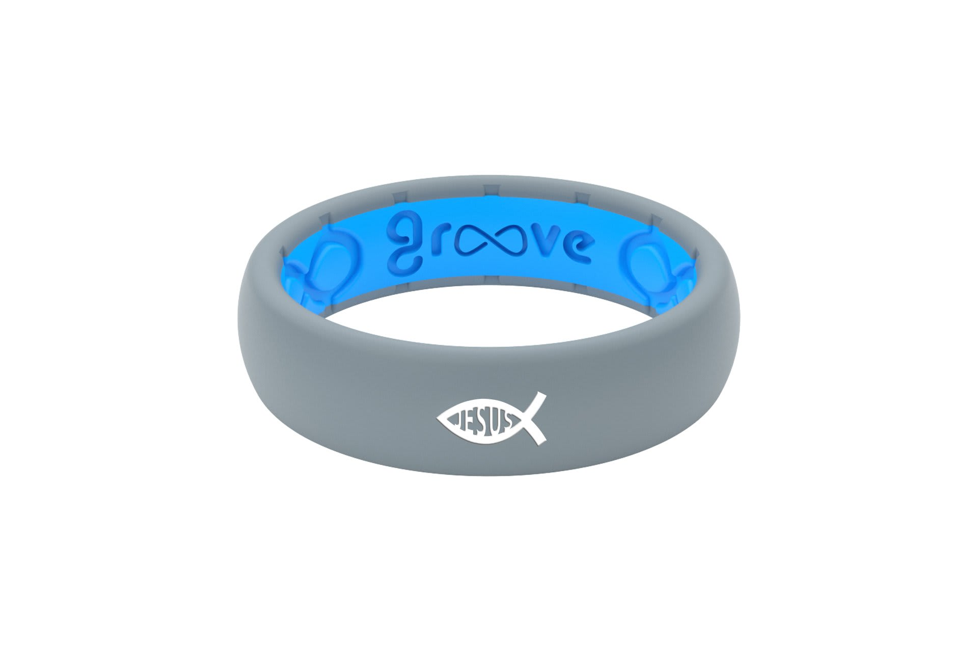 Thin Custom Ichthus Jesus Storm Grey/Blue - Groove Life