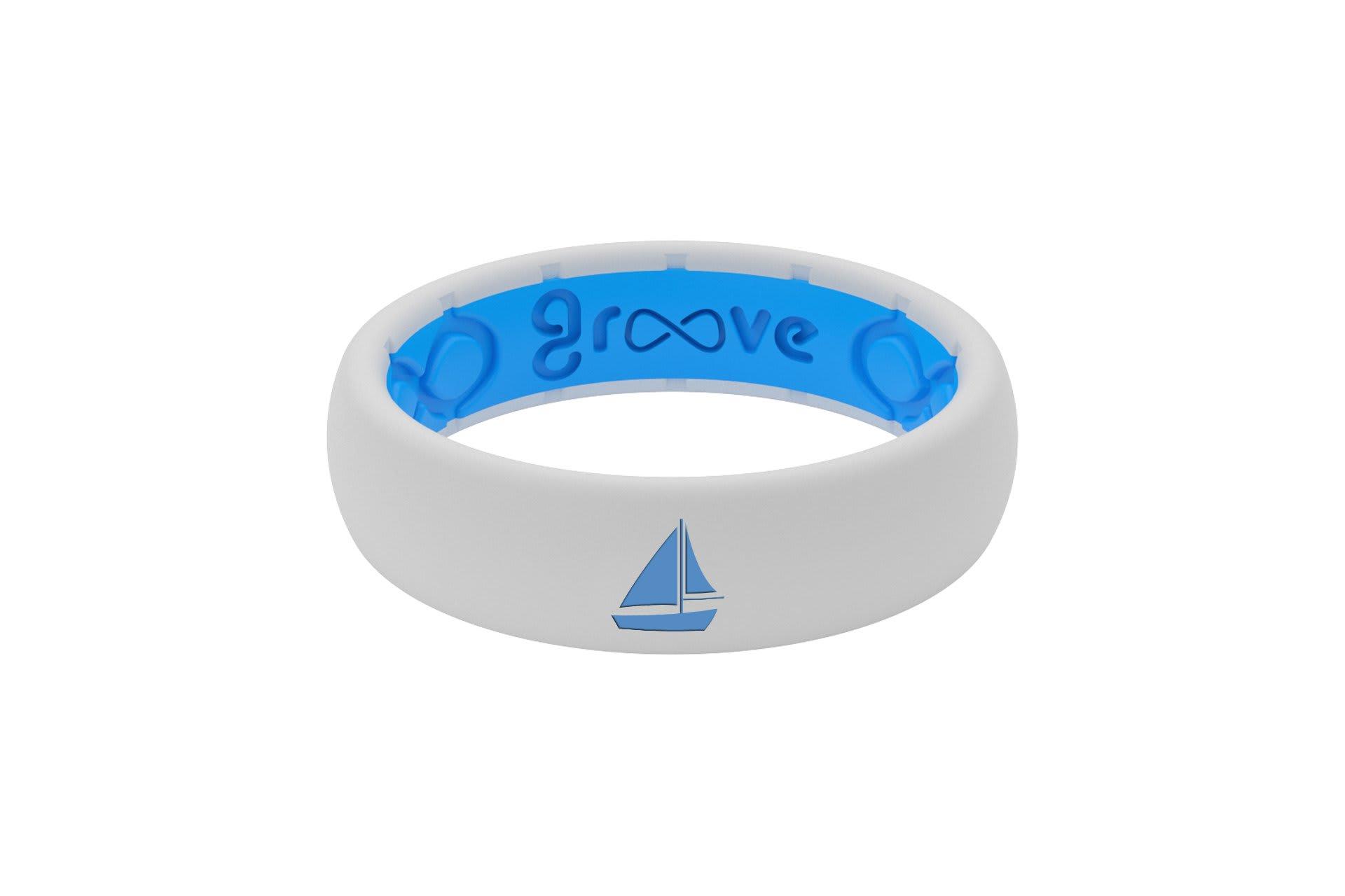 Thin Custom Sailboat White/Blue - Groove Life