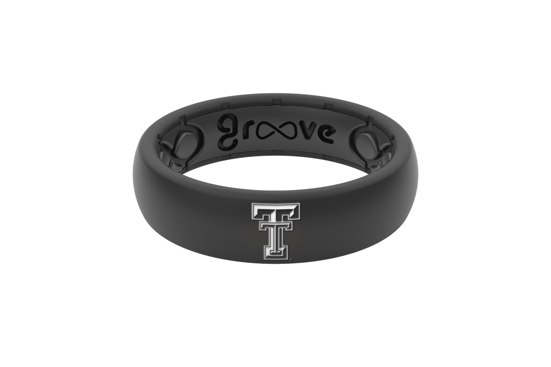 Thin College Texas Tech Black  viewed front on