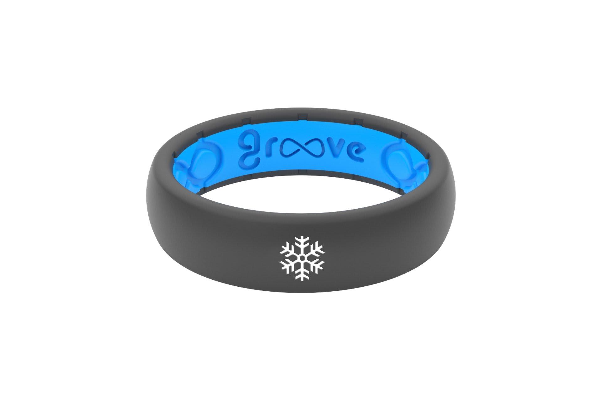 Thin Custom Snowflake Deep Stone Grey/Blue - Groove Life