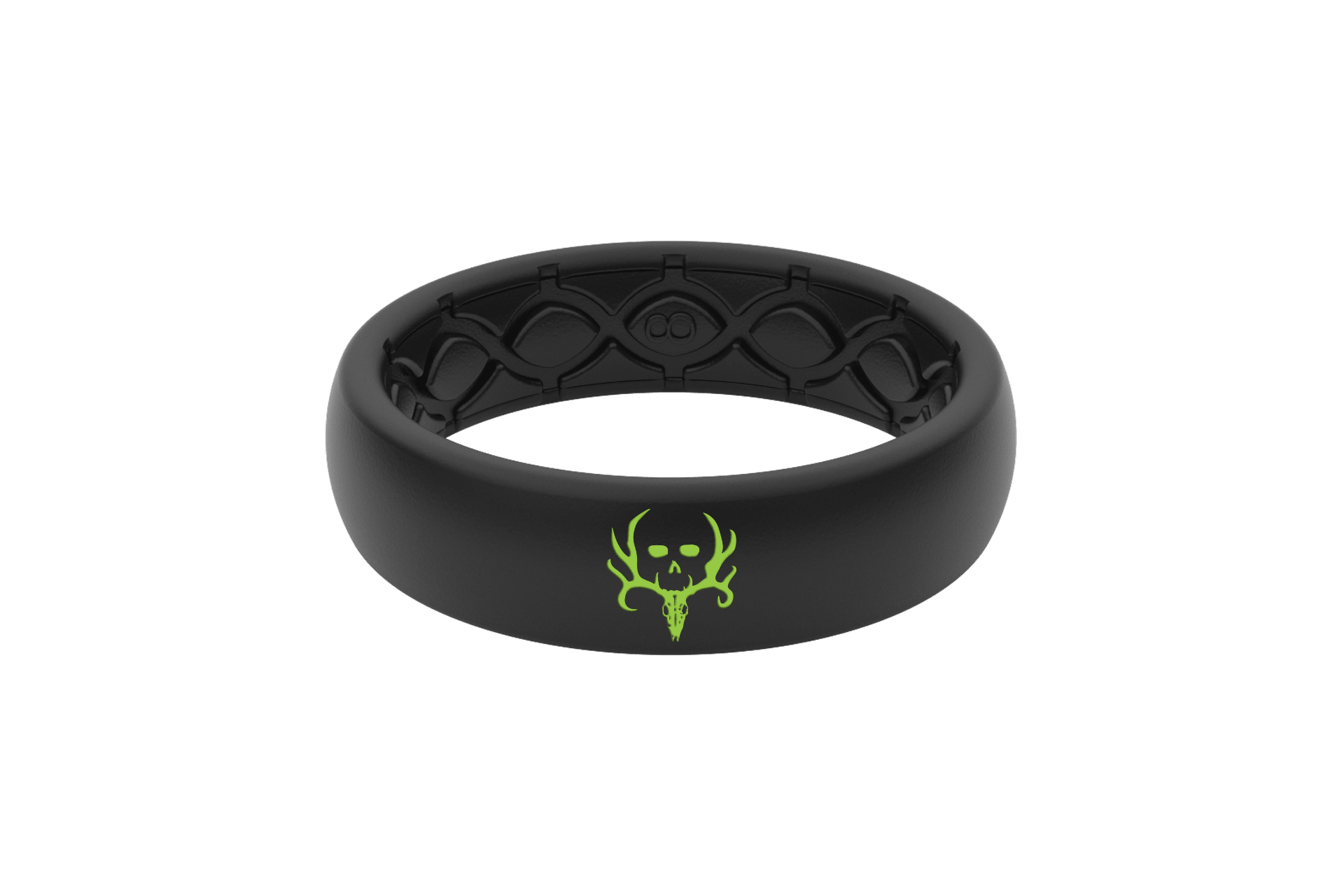 Thin Bone Collector Midnight Black - Groove Life Silicone Wedding Rings