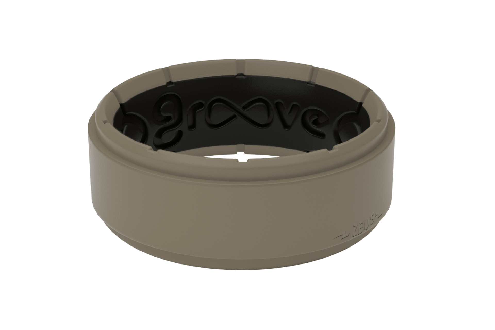 Zeus Step Flat Earth/Black - Groove Life Silicone Wedding Rings