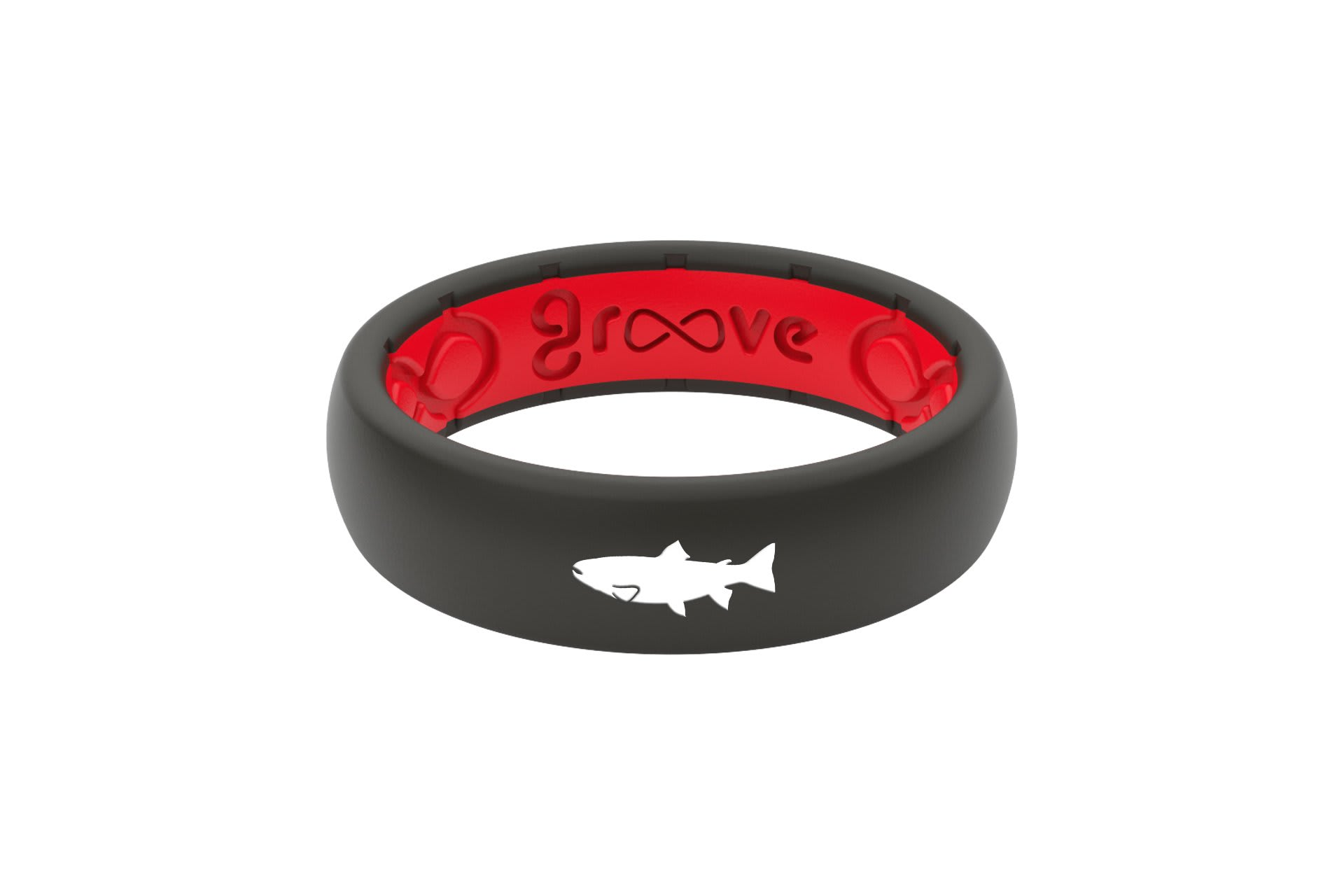 Thin Custom Trout Black/Red - Groove Life