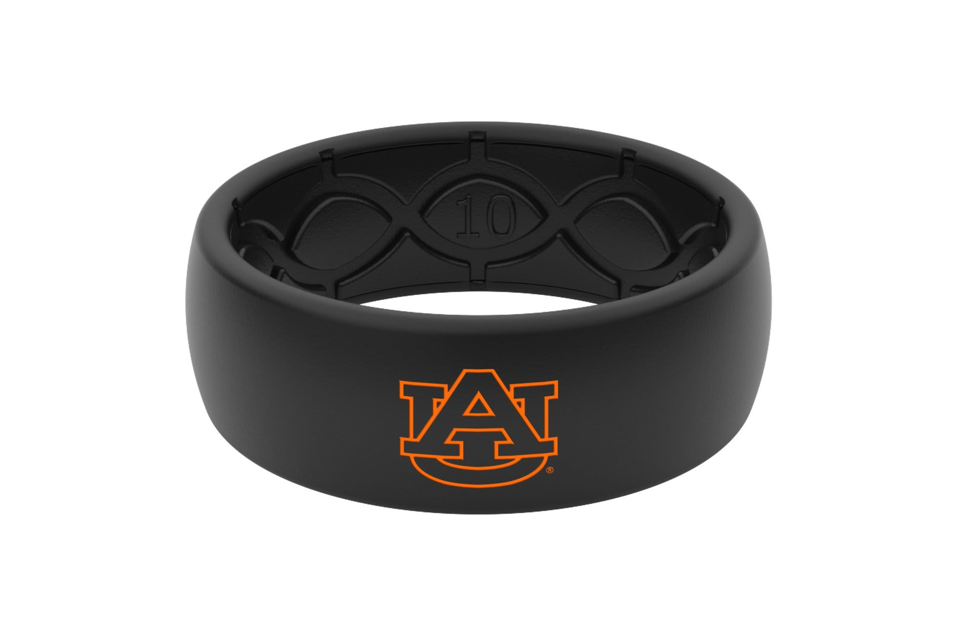 Original College Auburn Black Color Fill - Groove Life Silicone Wedding Rings
