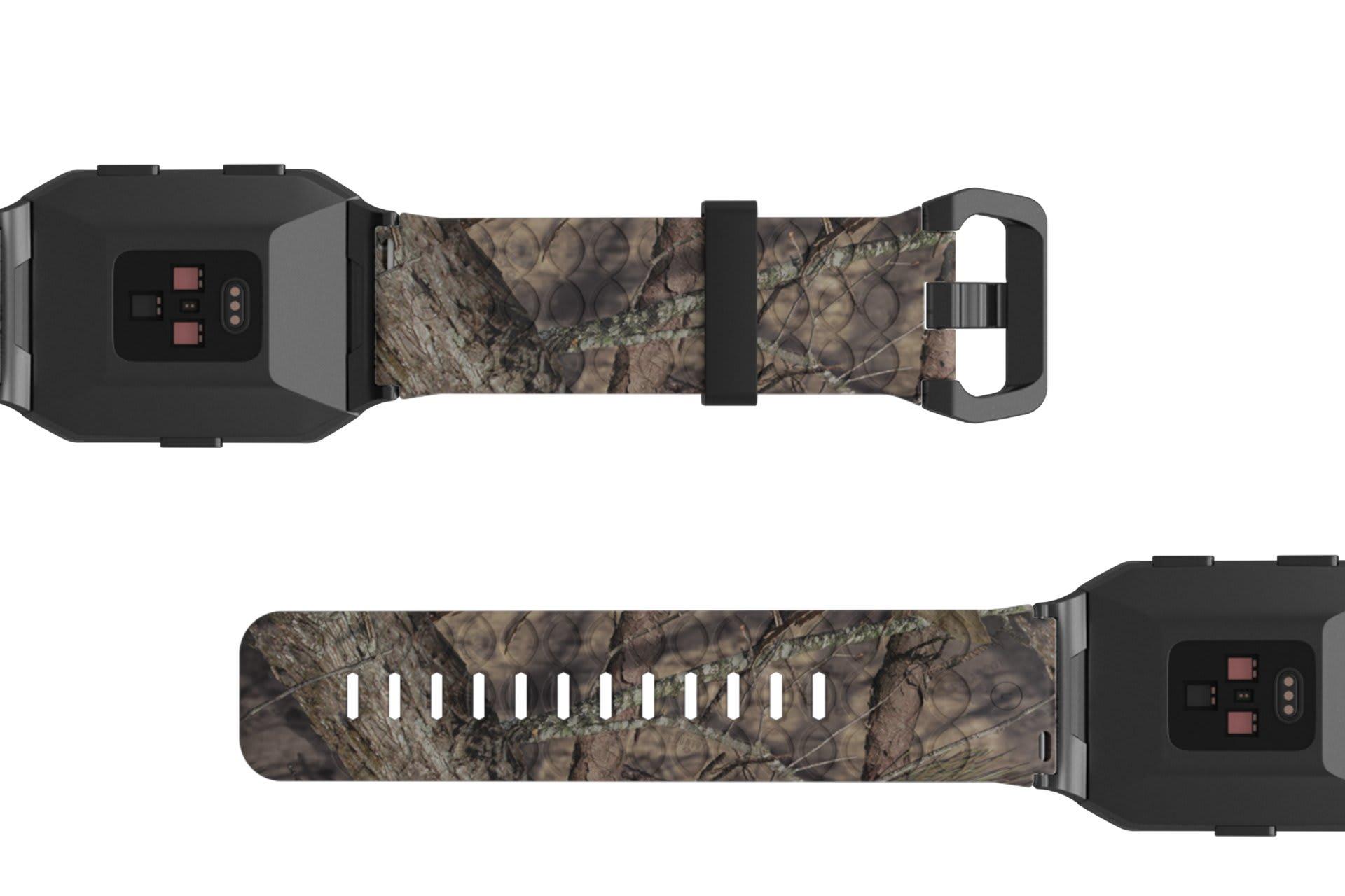 Mossy Oak Breakup   Fitbit Ionic watch band viewed bottom up