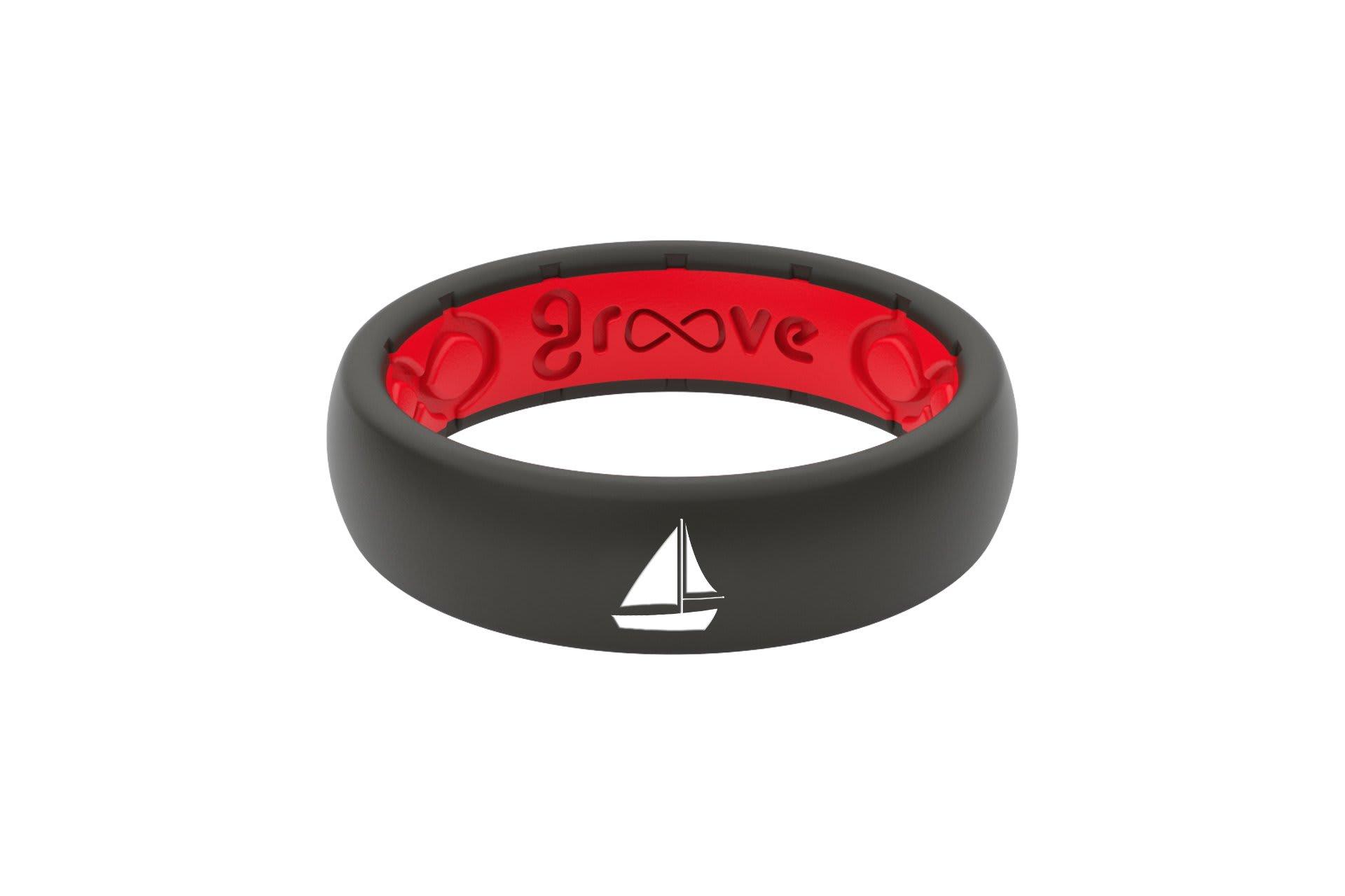 Thin Custom Sailboat Black/Red - Groove Life