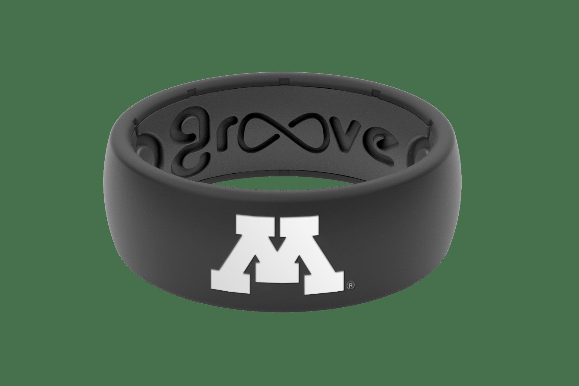 Original College Minnesota Black Full - Groove Life Silicone Wedding Rings
