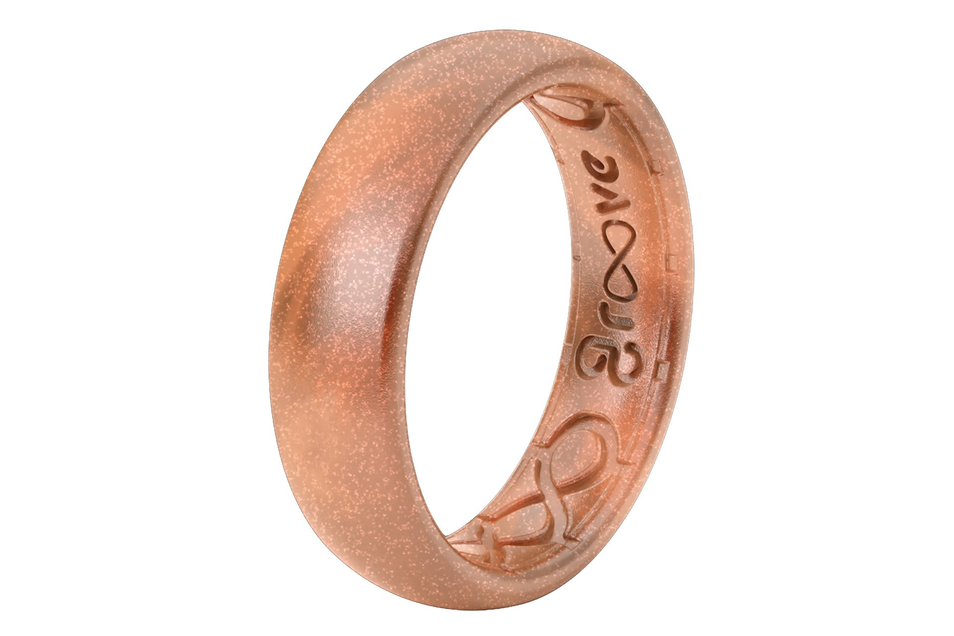 Thin Solid Copper - Groove Life Silicone Wedding Rings