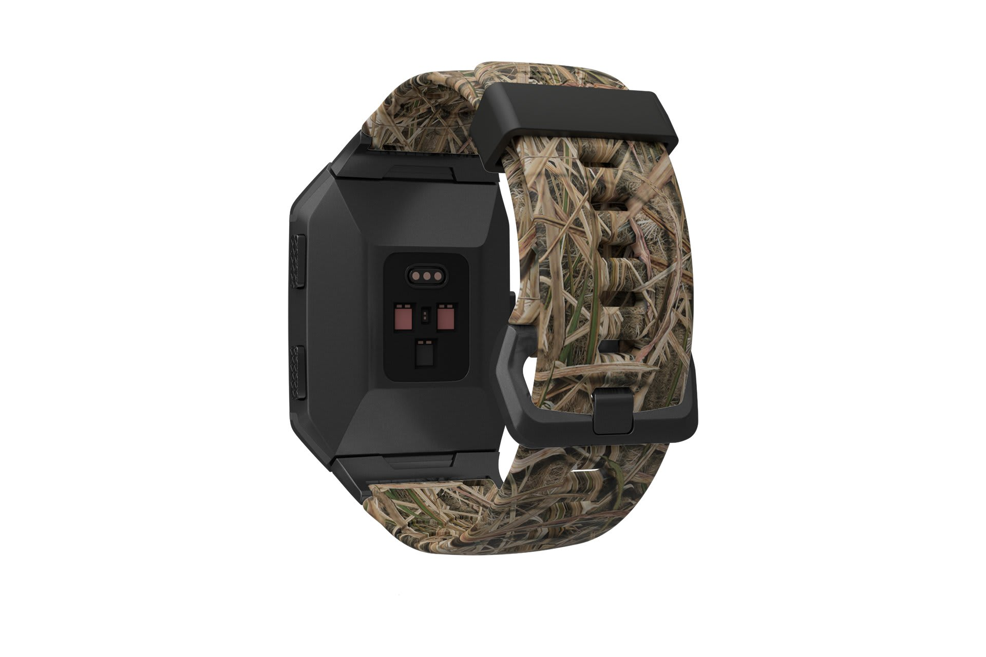 Mossy Oak Blades Fitbit Ionic  watch band viewed from rear
