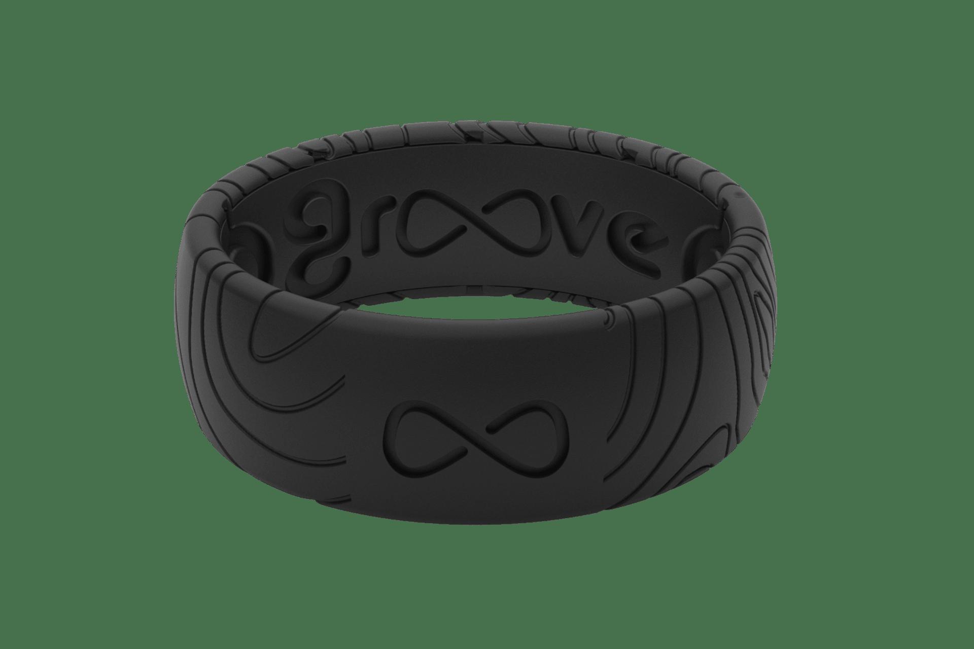 Original Dimension Topo Midnight Black - Groove Life Silicone Wedding Rings