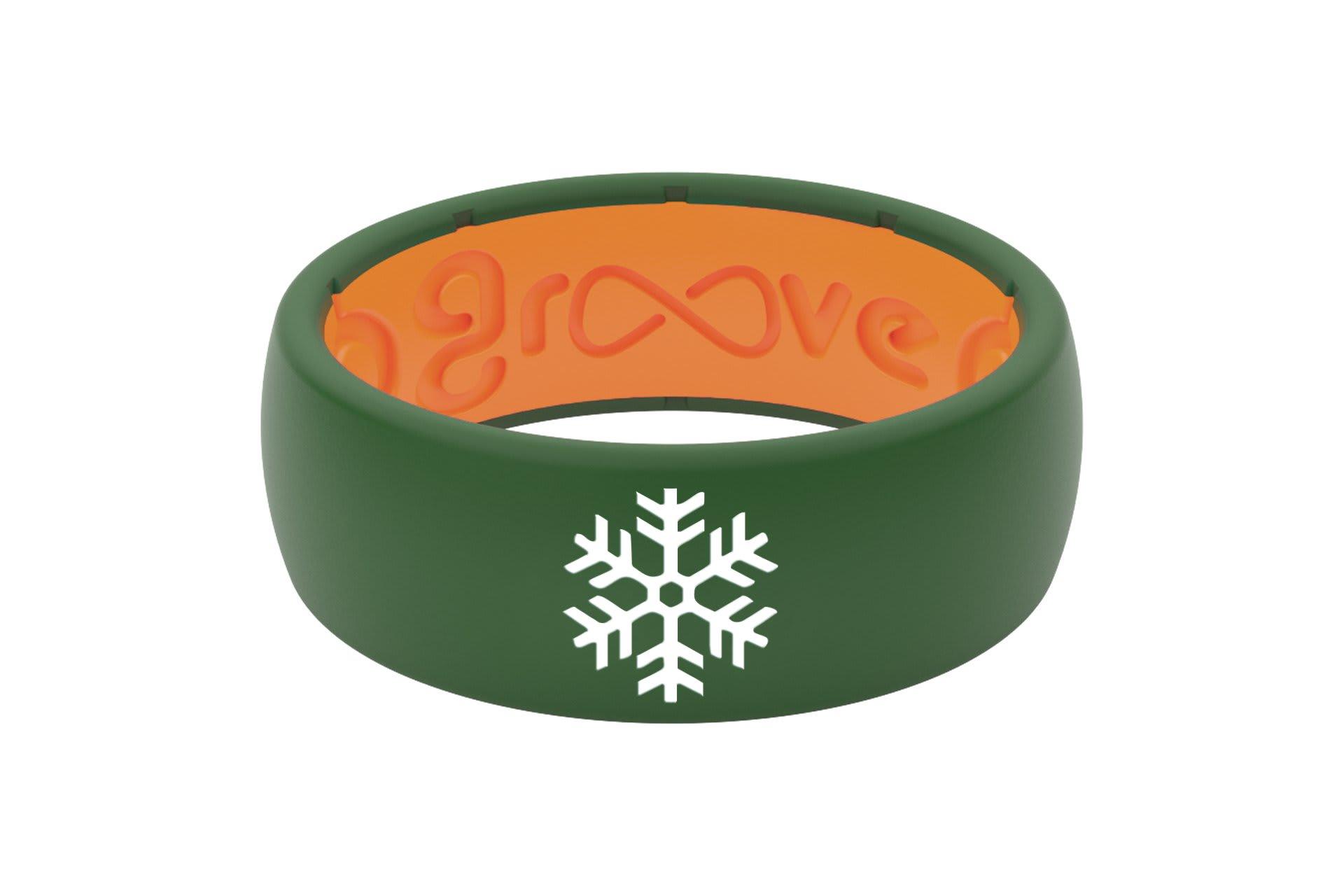 Original Custom Snowflake Moss Green/Orange - Groove Life