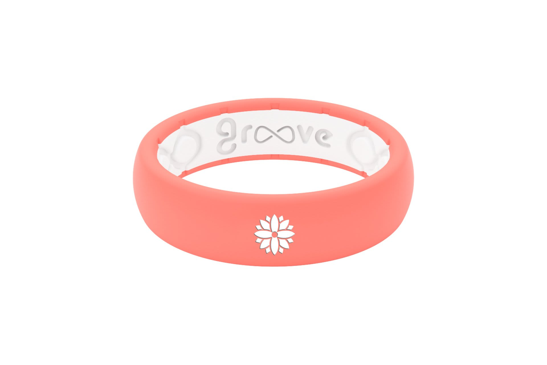 Thin Custom Flower Coral/White - Groove Life