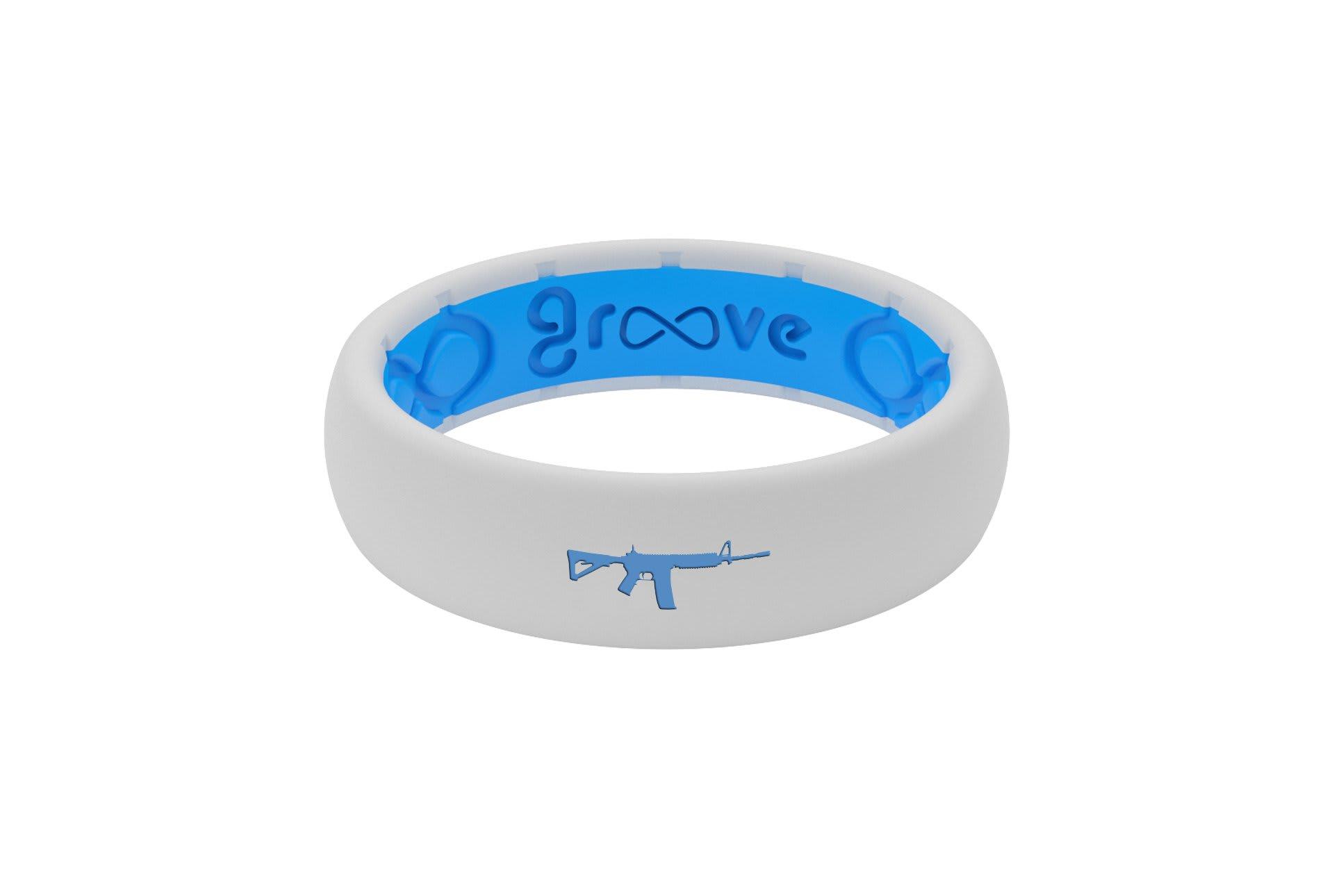 Thin Custom AR-15 White/Blue - Groove Life