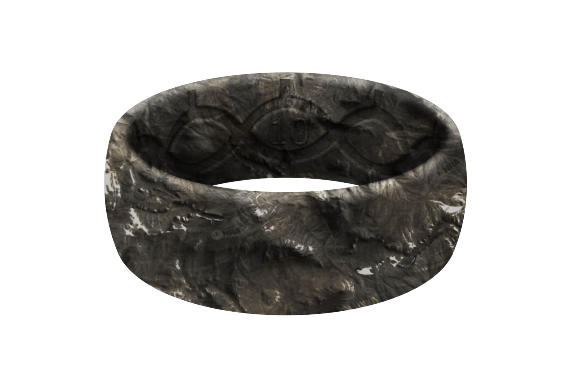 Mossy Oak NRA Overwatch Camo Original ring viewed front on
