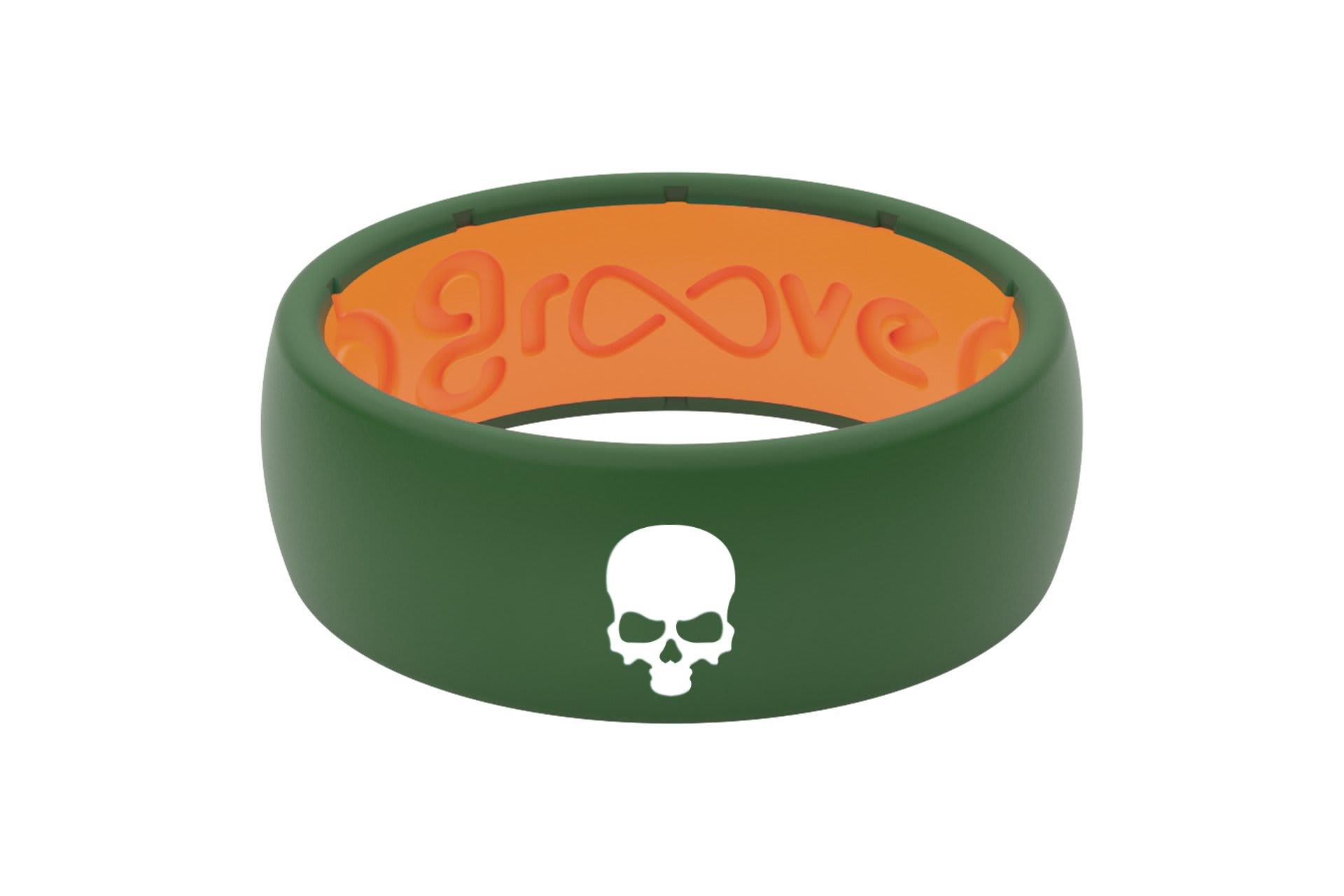 Original Custom Skull Moss Green/Orange - Groove Life