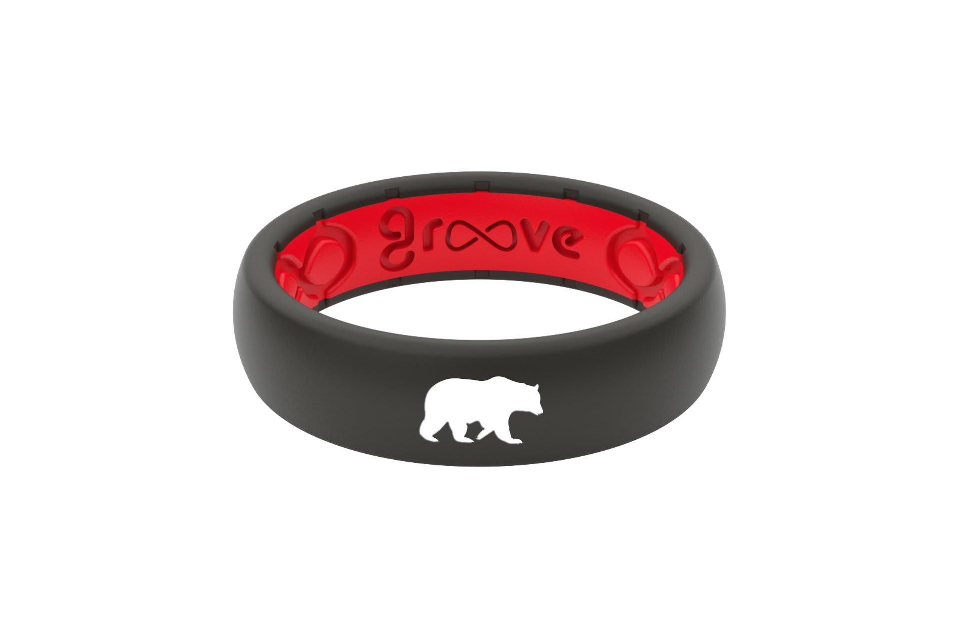 Thin Custom Bear Black/Red - Groove Life
