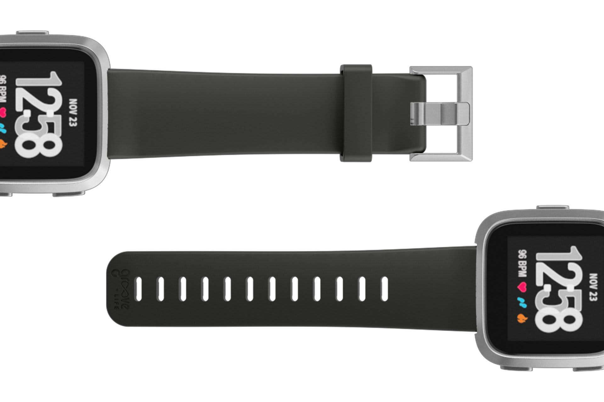 Fitbit Watch Band Versa Solid Black - Groove Life