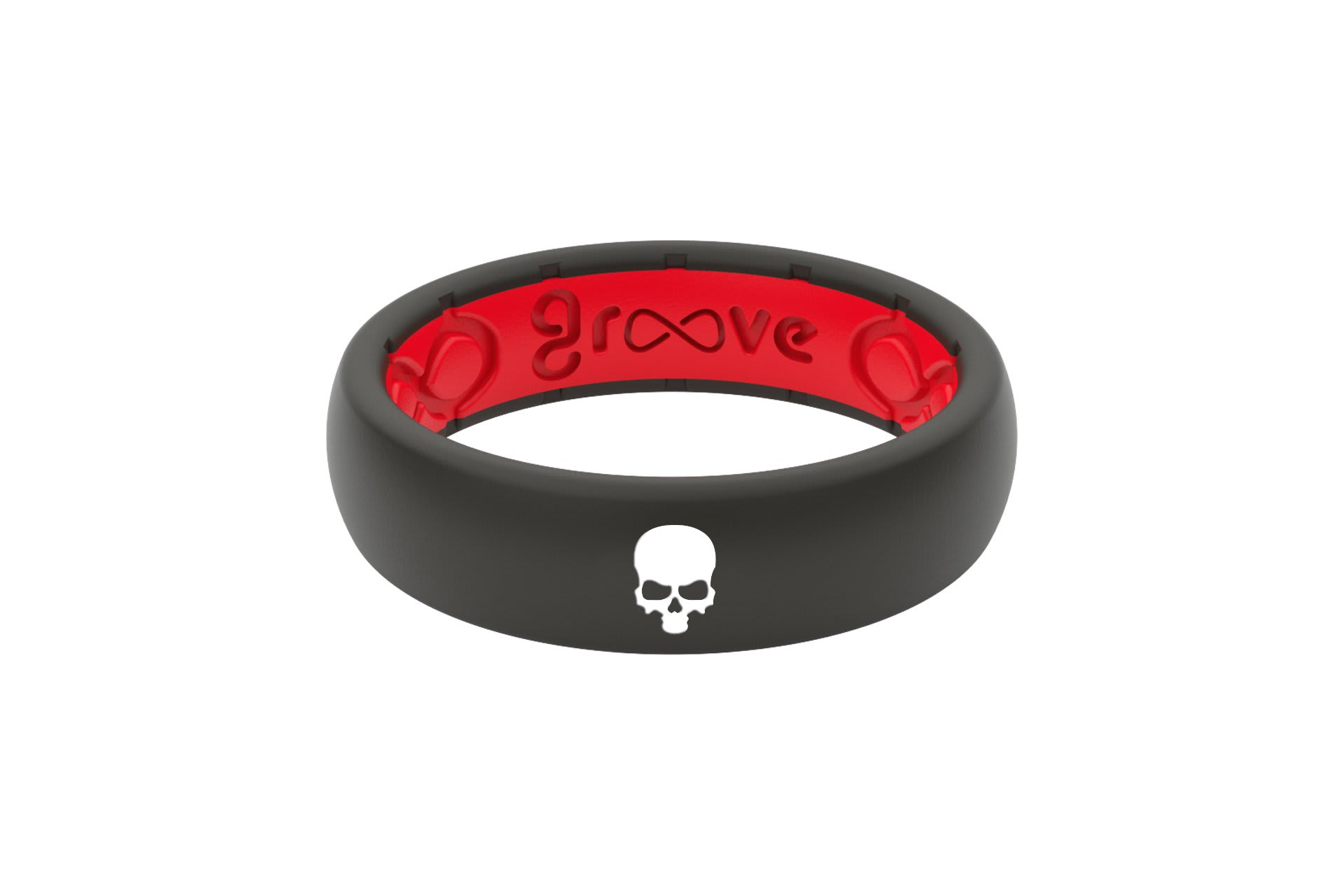 Thin Custom Skull Black/Red - Groove Life