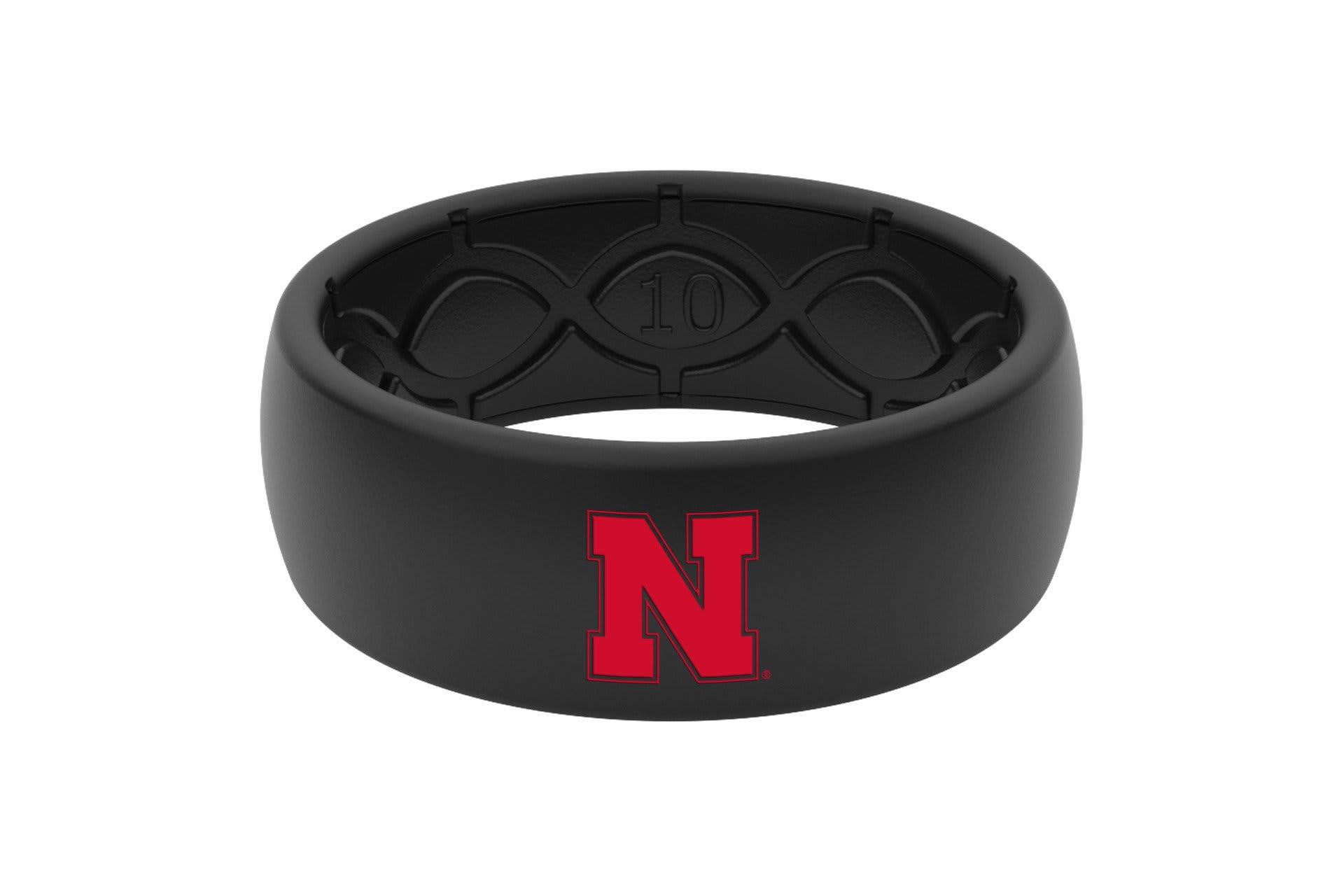 Original College Nebraska Black Color Fill  viewed front on