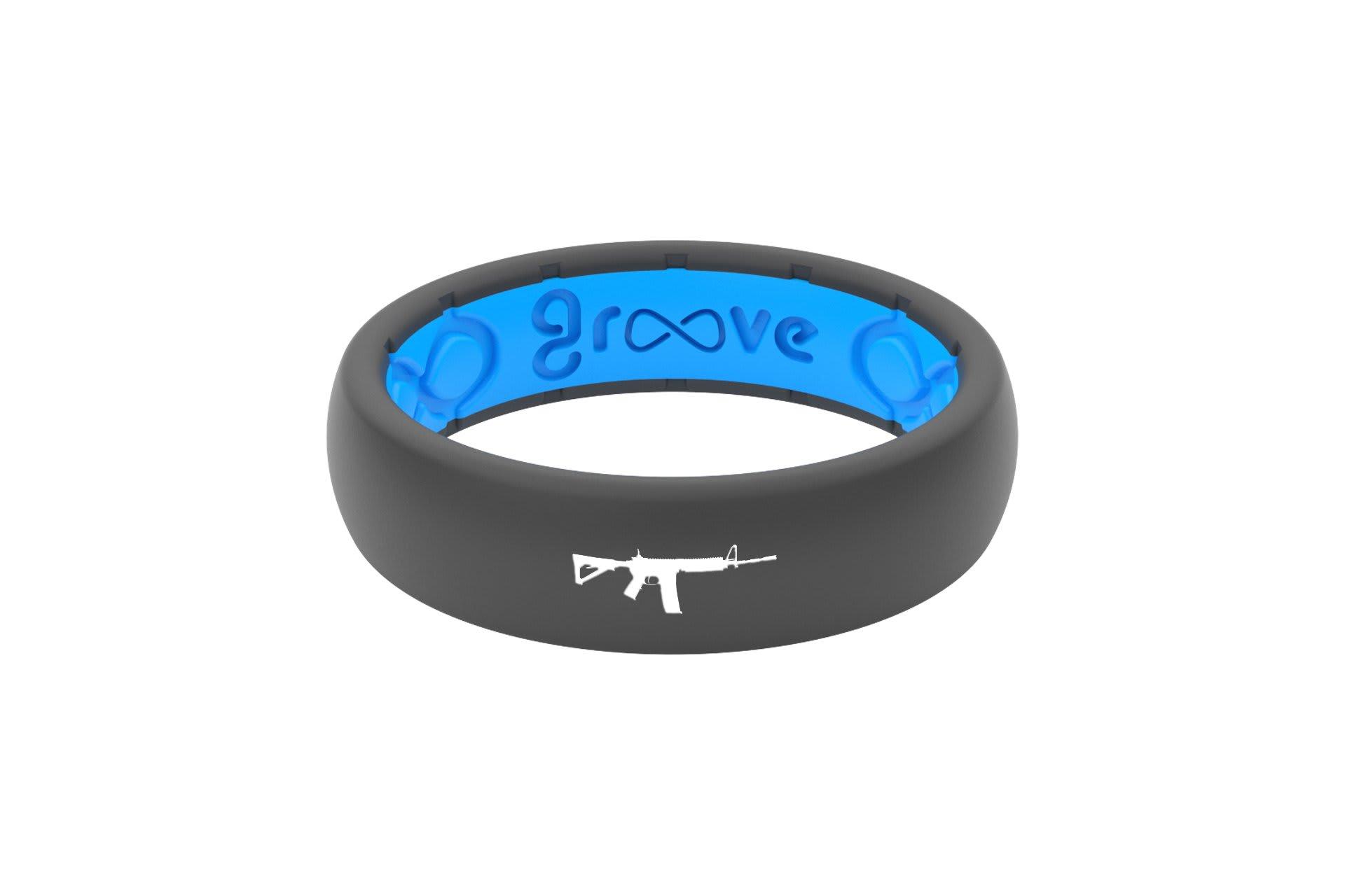 Thin Custom AR-15 Deep Stone Grey/Blue - Groove Life