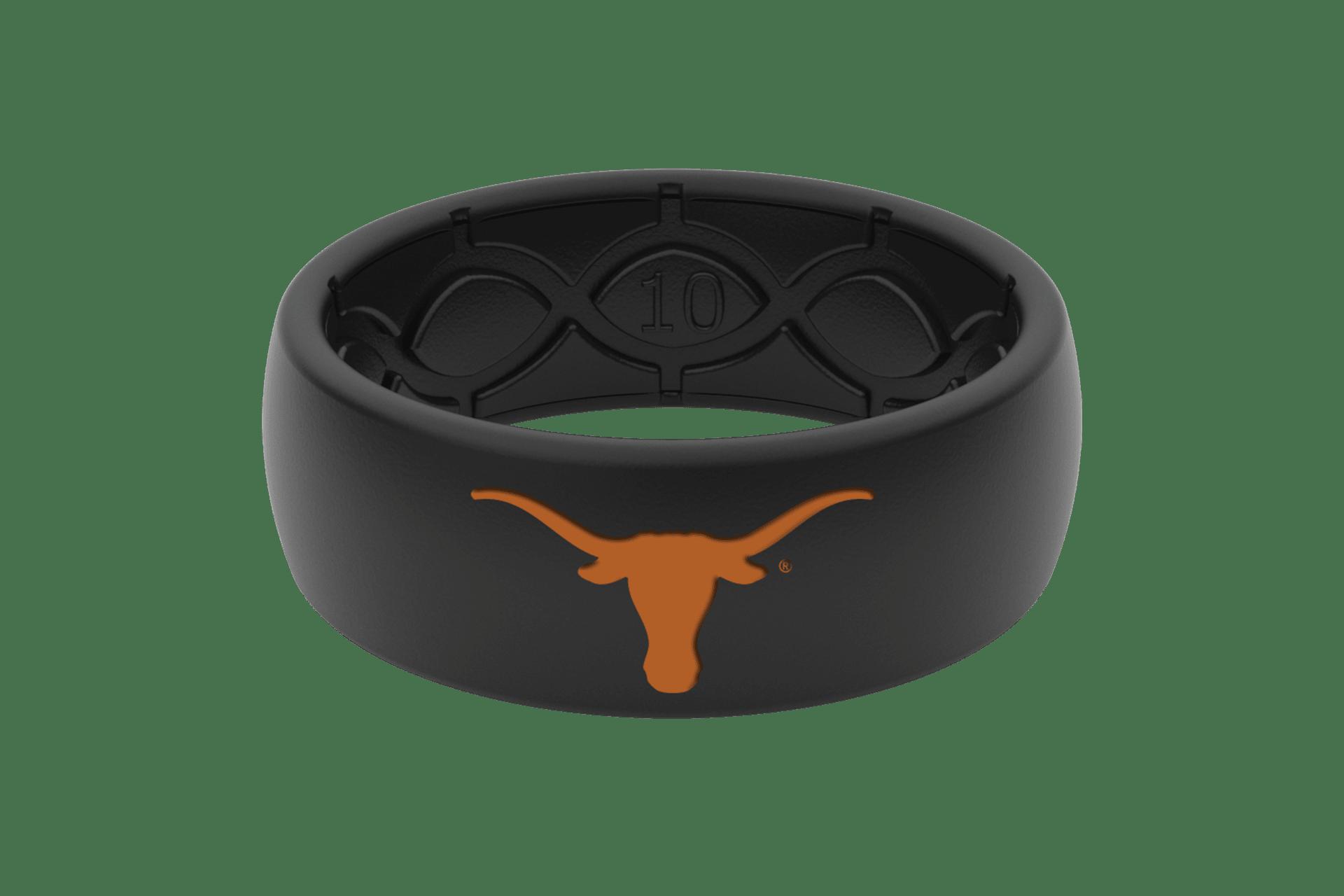 Original College Texas Black/Black/Orange - Groove Life Silicone Wedding Rings
