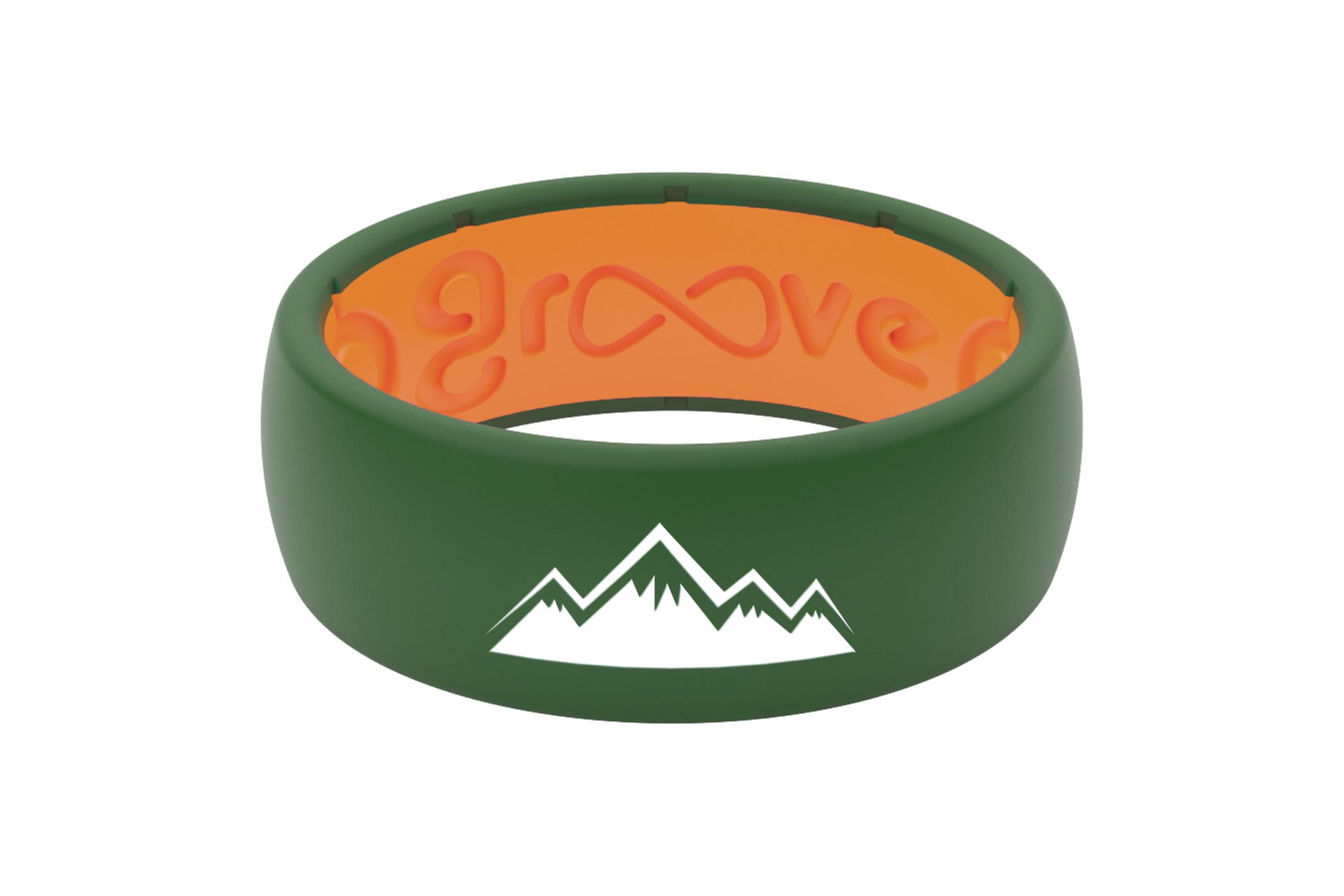 Original Custom Mountains Moss Green/Orange - Groove Life