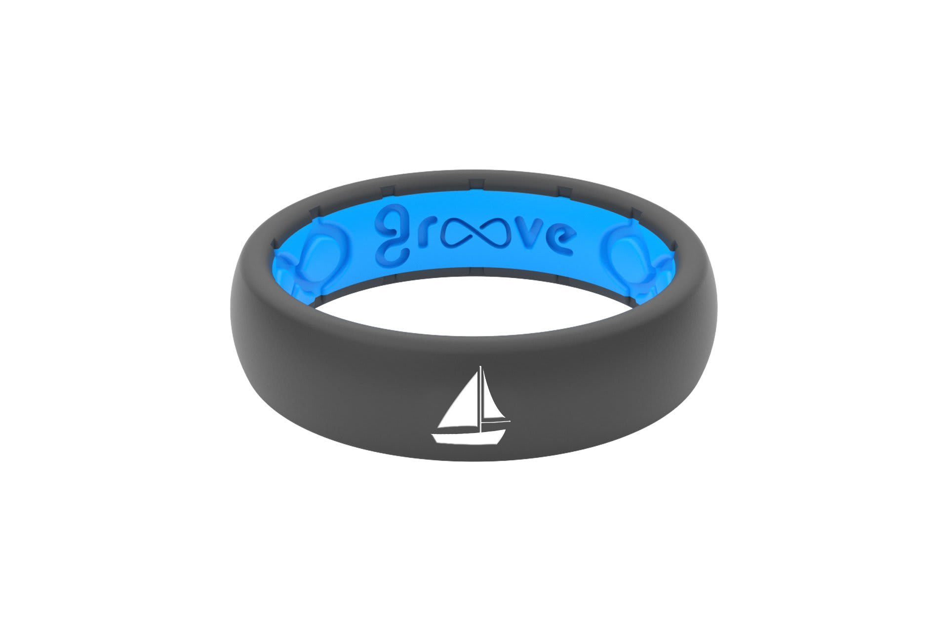 Thin Custom Sailboat Deep Stone Grey/Blue - Groove Life